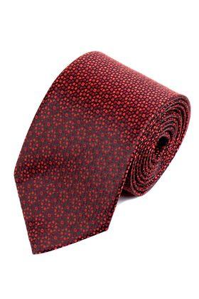 Темно-красный мужской галстук с интересным дизайном