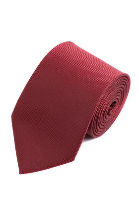 Однотонный красный мужской галстук из структурной ткани