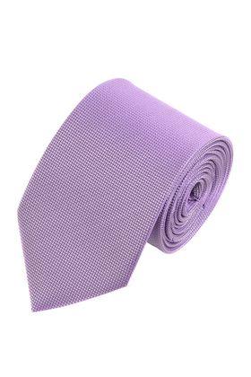 Однотонный сиреневый мужской галстук из структурной ткани