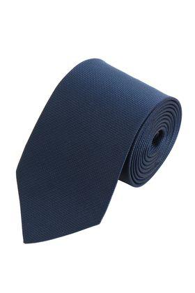 Однотонный темно-синий мужской галстук из структурной ткани