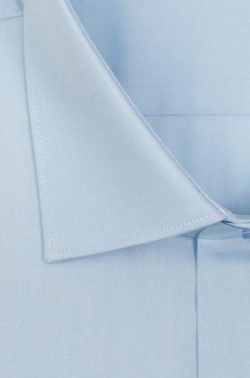 Однотонная голубая мужская рубашка