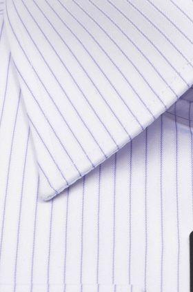 Классическая мужская рубашка с длинным рукавом в голубую полоску