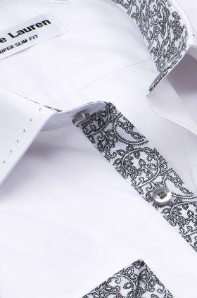 Белая мужская рубашка Elegance, приталенного кроя Super Slim Fit