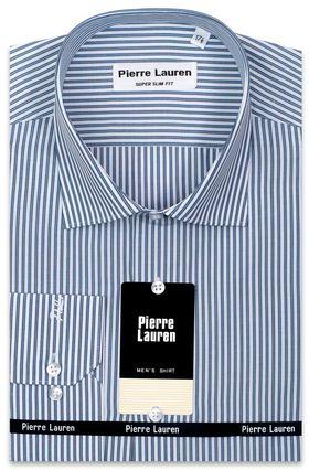 Мужская рубашка с двойной синей полоской