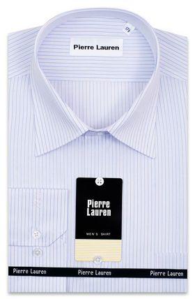 Классическая мужская рубашка больших размеров в голубую полоску
