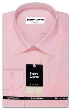 Красивая мужская рубашка классического прямого покроя розового цвета