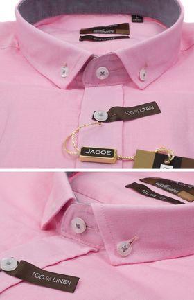 100276JМК Красная мужская рубашка приталенная Jacoe