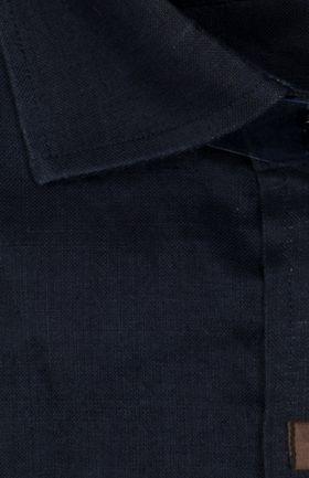 100351JМК Темно-синяя мужская рубашка приталенная Jacoe