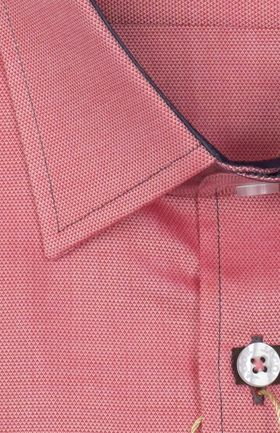 100471JМК Розовая мужская рубашка приталенная Jacoe