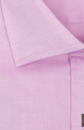 100481JМК Сиреневая мужская рубашка приталенная Jacoe