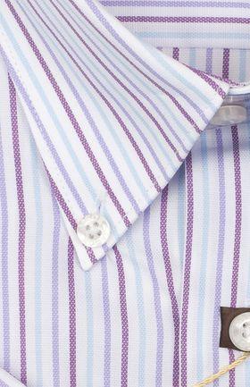 102174JМК Мужская рубашка в полоску приталенная Jacoe