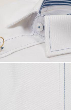 200440JМК Белая мужская рубашка приталенная Jacoe