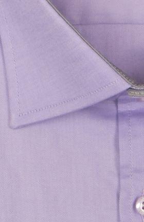800001JМК Сиреневая мужская рубашка приталенная Jacoe