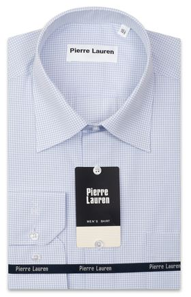 Приталенная мужская рубашка в клетку Slim Fit