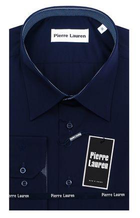 Синяя мужская рубашка больших размеров
