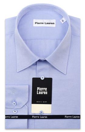 Мужская рубашка модного голубого цвета из фактурной ткани