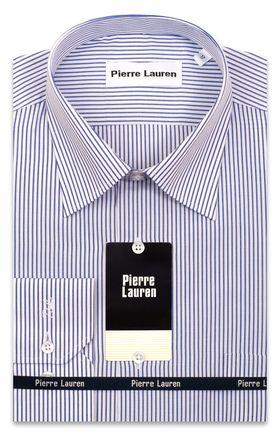 Мужская рубашка больших размеров в ярко-синюю полоску