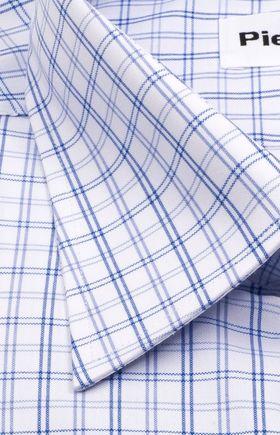 Мужская рубашка больших размеров в голубую клетку