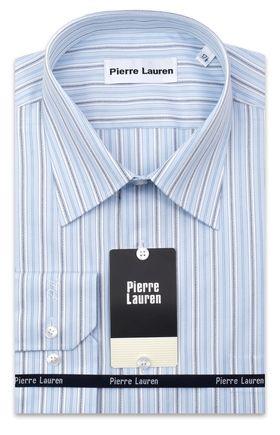 Мужская рубашка больших размеров в голубую полоску