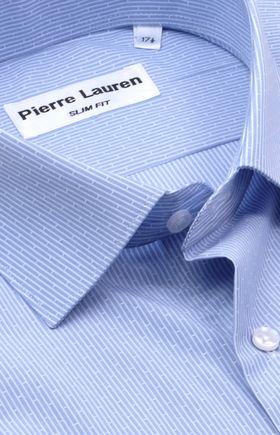 Полуприталенная мужская рубашка с коротким рукавом Slim Fit