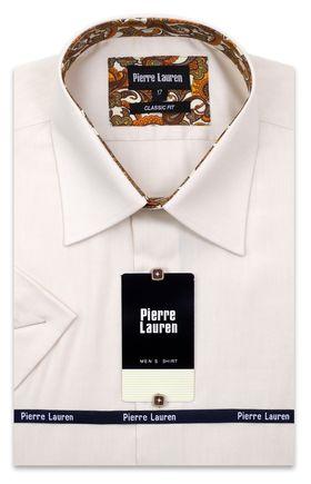 Классическая прямая мужская рубашка с коротким рукавом