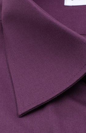 Однотонная мужская рубашка фиолетового цвета