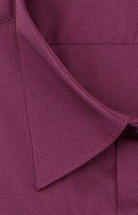 Однотонная фиолетовая мужская рубашка с длинным рукавом