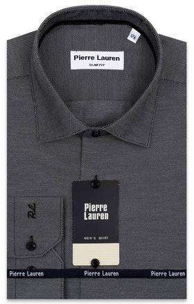 Приталенная серая мужская рубашка