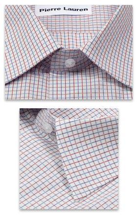 Красивая мужская рубашка классического прямого покроя