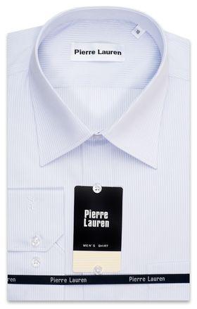 Светлая мужская рубашка в полоску приталенная Super Slim Fit