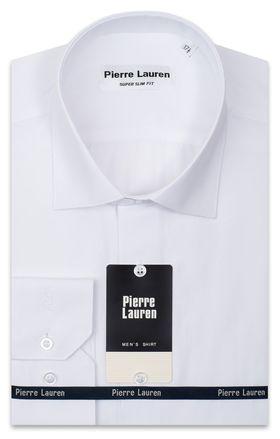 Мужская рубашка белого цвета приталенная Super Slim Fit