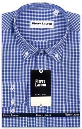 Мужская рубашка в в синюю клетку