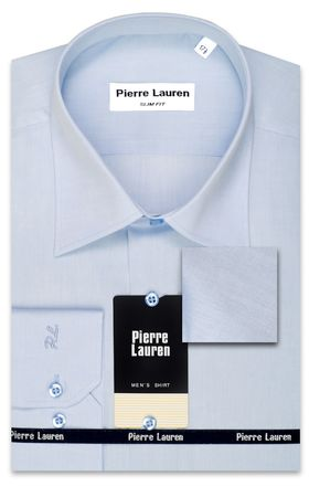 Голубая мужская рубашка Super Slim Fit из структурной ткани