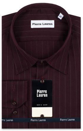 Хлопковая бордовая мужская рубашка больших размеров