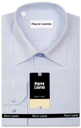 Классическая мужская рубашка в голубую полоску