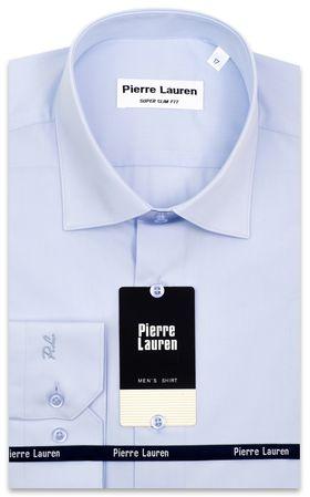 Однотонная голубая мужская рубашка Super Slim Fit