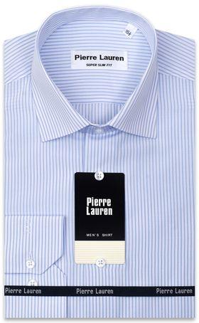 Мужская рубашка в голубую полоску, приталенная Super Slim Fit