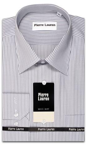 Классическая мужская рубашка Slim Fit (полуприталенная) в полоску