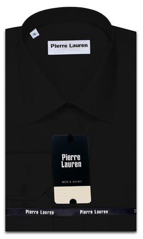 Однотонная черная мужская рубашка Slim Fit